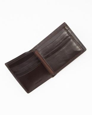 チョコ  フランス製ボックスカーフレザー 二つ折りウォレット カードポケット見る