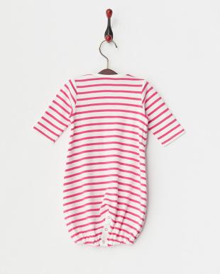 ピンク  ボーダー×ドット ドレス&カバーオール BABY見る