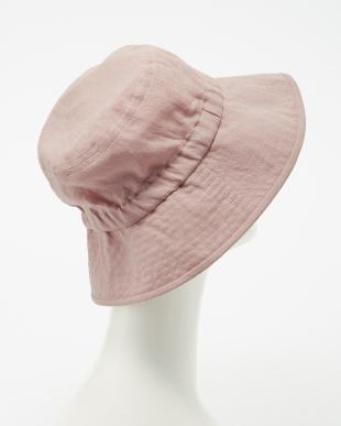 ピンク  ゴム入りセーラー帽子見る
