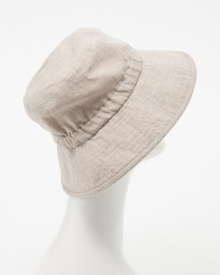ベージュ  ゴム入りセーラー帽子見る