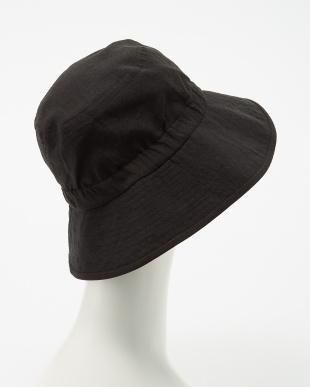 ブラック  ゴム入りセーラー帽子見る