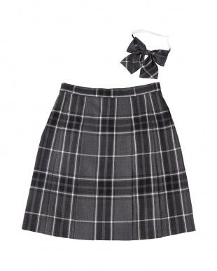 グレーチェック スカート見る