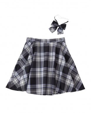 サックスチェック スカート見る