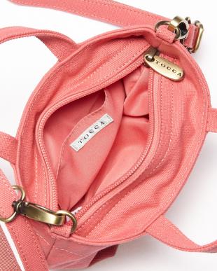 ピンク  リボンミニトートバッグ見る