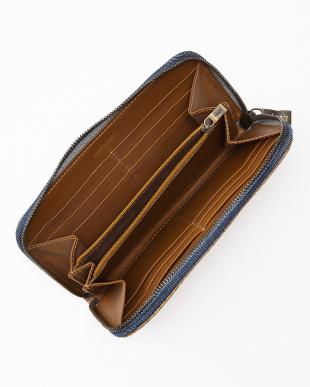 キャラメル/ブルー キャラメル/ブルー 1X 008-2長財布見る