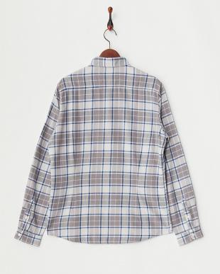 パターン1  メランジチェックシャツ見る