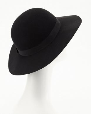 ブラック  フェルト女優帽見る
