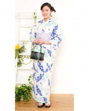 オフホワイト系 桜 造り帯セット税抜4,800円福袋 WOMEN見る