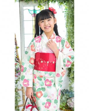 クリーム系 草花 スクール造り帯セット税抜5,500円福袋 GIRL見る