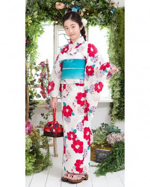 ホワイト系 花&毬 スクール造り帯セット税抜5,500円福袋 GIRL見る