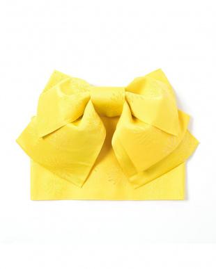 イエロー系 モチーフ織り 造り帯セット税抜2,200円福袋 WOMEN見る
