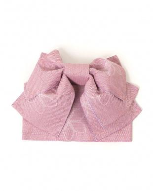 ピンク系 花 造り帯セット税抜2,200円福袋 WOMEN見る