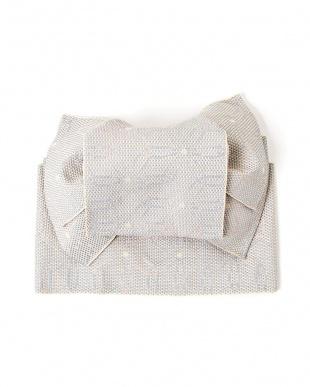 ライトグレー系 花 造り帯セット税抜2,200円福袋|WOMEN見る