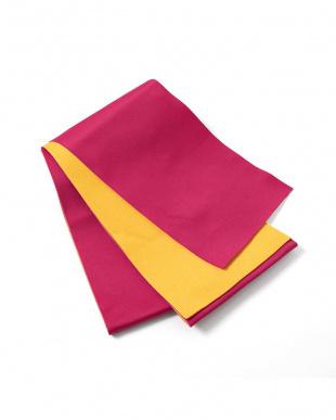 ピンク×イエロー系 配色 平帯+着付け小物セット税抜1,640円福袋 WOMEN見る