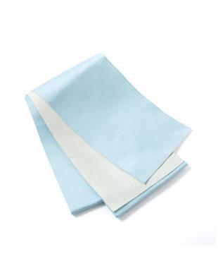 ライトブルー×ホワイト系 配色 平帯+着付け小物セット税抜1,640円福袋 WOMEN見る