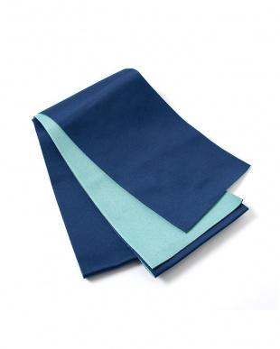ネイビー×ライトブルー系 配色 平帯+着付け小物セット税抜1,640円福袋 WOMEN見る