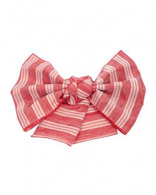 レッド系 フラワー髪飾り+プチ兵児帯税抜990円福袋 WOMEN見る