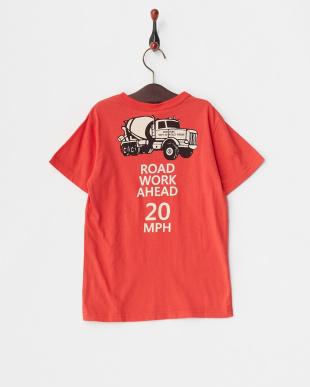 レッド  働く車Tシャツ見る
