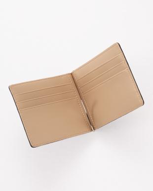 ブルー  クロコダイルマネークリップ式2つ折り財布見る