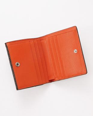 チョコオレンジ  クロコダイル コンパクト財布見る