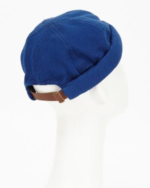 ブルー  インディゴピケロールキャップ(INDIGO PIQUE ROLL CAP)見る
