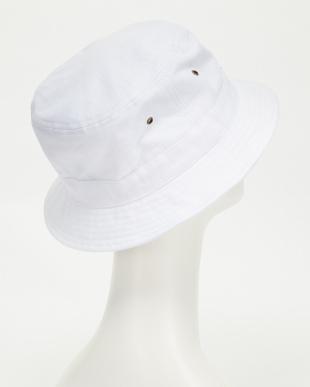 ホワイト  ビッグサイズショートブリムバケットハット(BIG SIZE SHORT BRIM BUCKET HAT)見る