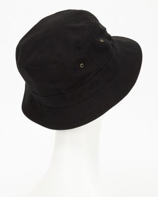ブラック  ビッグサイズショートブリムバケットハット(BIG SIZE SHORT BRIM BUCKET HAT)見る