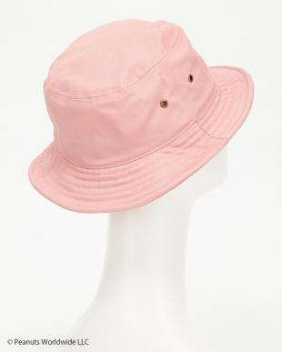 ピンク チャーリーフレンドフェイスツイルバケットハット(CHARLIE'S FRIEND BUCKET HAT)見る