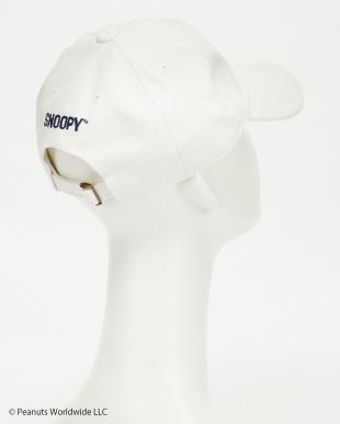 ホワイト  スヌーピーアンドベルキャンバスキャップ(SNOOPY & BELL CANVAS BB CAP)見る