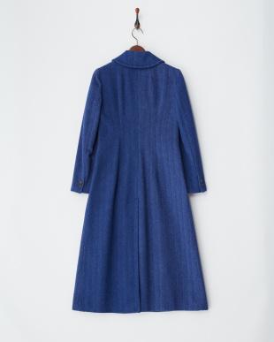 cornflower blue pattern  C-MOSCOW コート見る