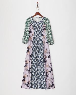 cornflower blue pattern PEONIA Dress見る