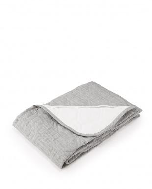 グレー  詰めものも全て「麻」 本麻敷きパッド シングル 約100×205cm見る