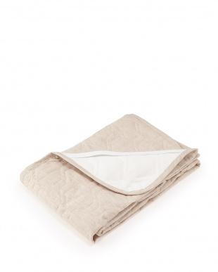 ブラウン 詰めものも全て「麻」 本麻敷きパッド ダブル 約140×205cm見る
