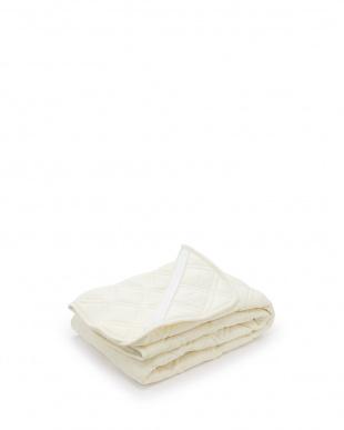 アイボリー 綿パイル敷きパッド シングル見る