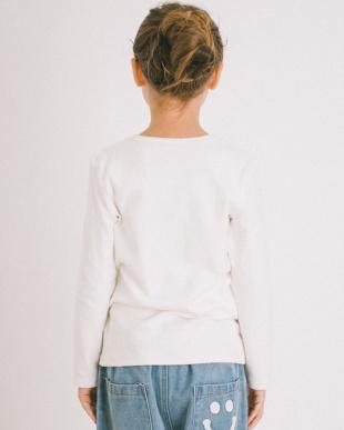 WHITE ふわっと ストレッチ ベーシック長袖Tシャツ見る