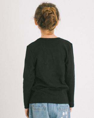 BLACK ふわっと ストレッチ ベーシック長袖Tシャツ見る