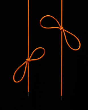 オレンジ シューレース 100cm見る