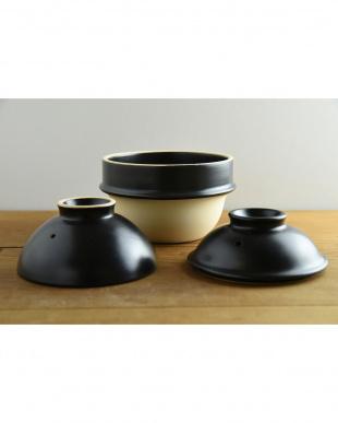 黒  kamacco 1合炊き用土鍋(土釜)見る