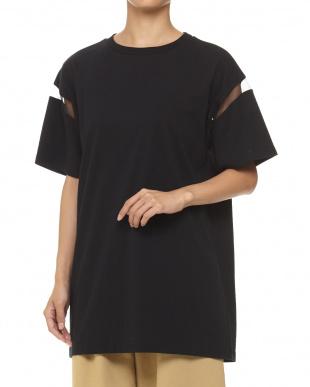 ブラック シアーラインTシャツ見る