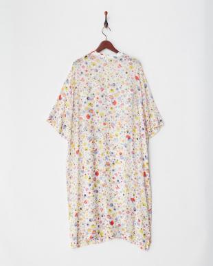 WHITE FLORAL PRINT CHIFFON TEE DRESS見る