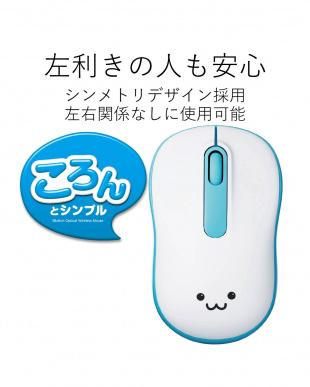 ブルー  無線マウス/光学式/Mサイズ/ブルー見る