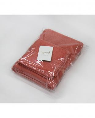 プラムピンク  Micro Cotton THE SEASONS  タオルセット(バスタオル×1、フェイスタオル×1)見る