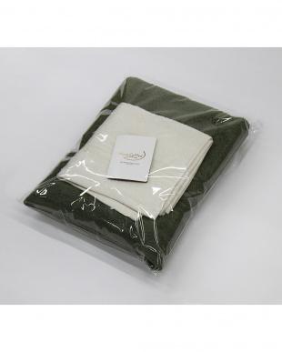 バジル/コーラルホワイト  Micro Cotton THE SEASONS  タオルセット バスタオル(バジル)×1、フェイスタオル(コーラルホワイト)×1見る