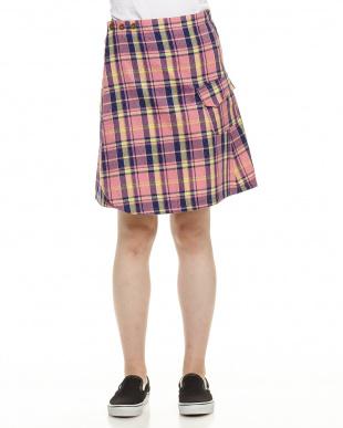 ピンク  ラップスカート見る