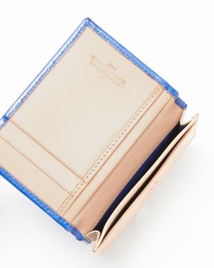 BLIGHT BLUE/NATURAL  カードケース横型見る