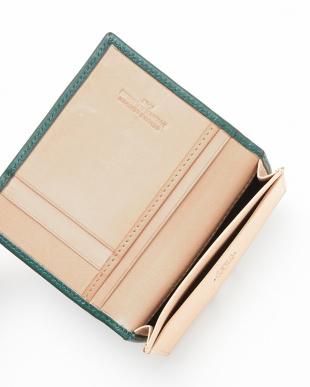 GREEN/NATURAL  カードケース横型見る