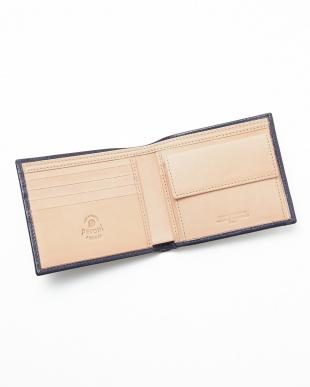 NAVY BLUE/NATURAL  二つ折り財布見る