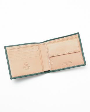 GREEN/NATURAL  二つ折り財布見る
