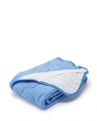 ブルー  アイス眠HC 敷きパッド シングル見る