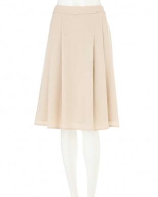 ベージュ ◆大きいサイズ◆Aラインタックサキソニースカート Aylesbury L見る